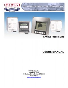 CanBus Product Line Users Manual