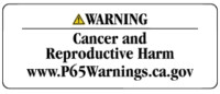 Prop 65 Chemical Warning Label